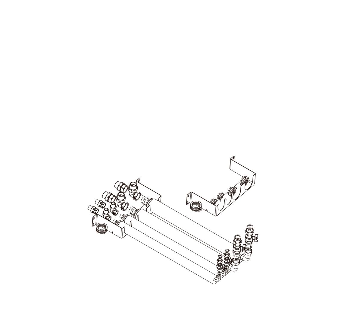 Prefab leidingset t.b.v. All-In-One (by Caleffi) voor J en H generatie van DHPS